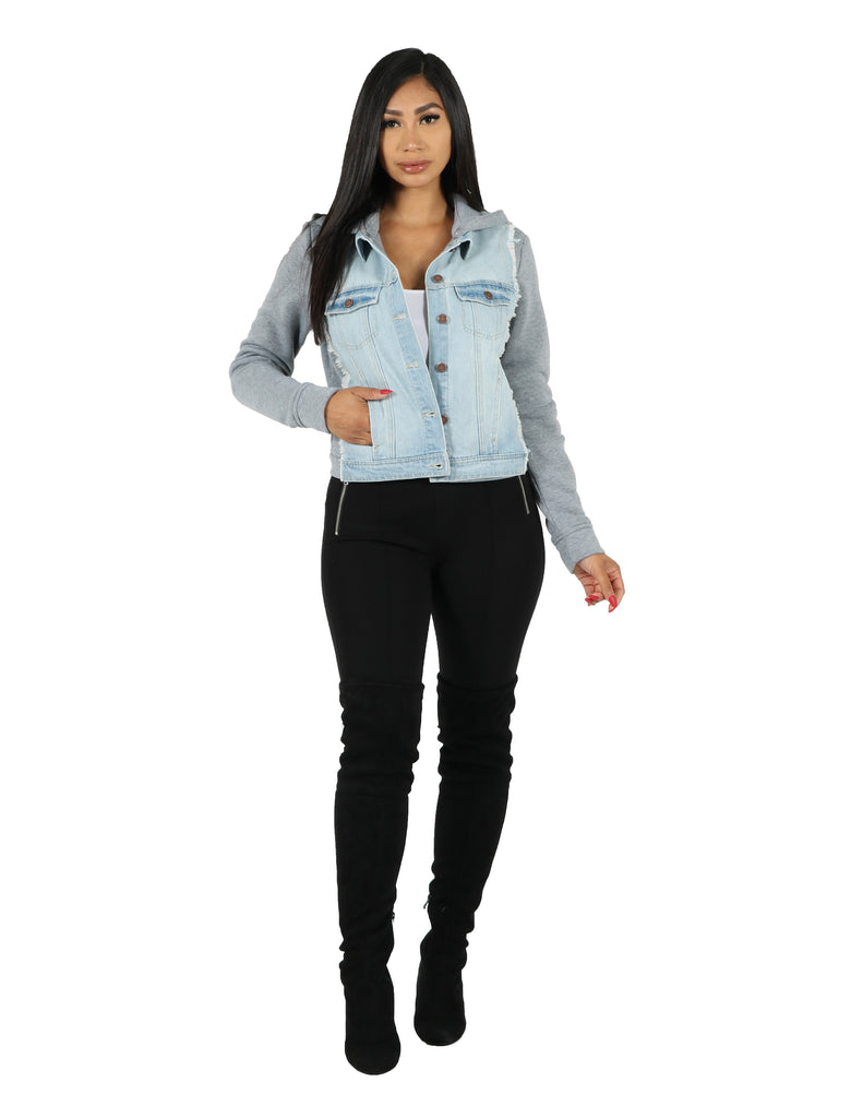 Denim Sweatshirt Back Jacket