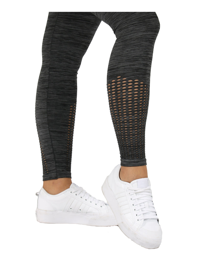 Seamless Space Dye Legging with Lazer Cut