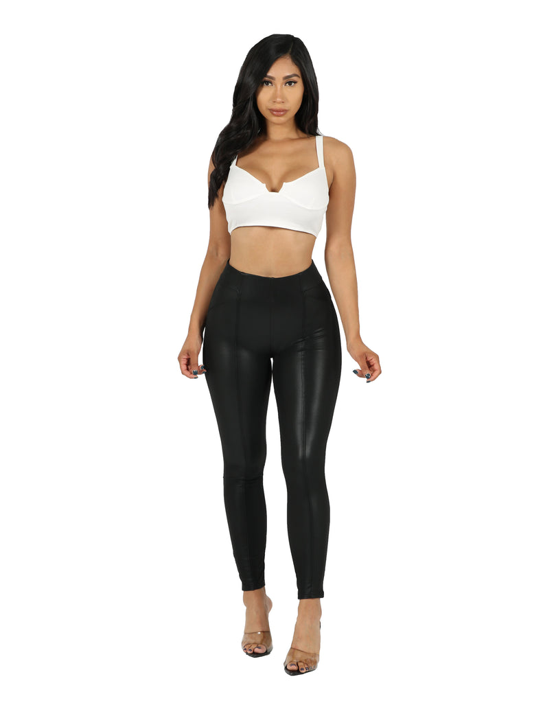 Vegan Seamed Legging