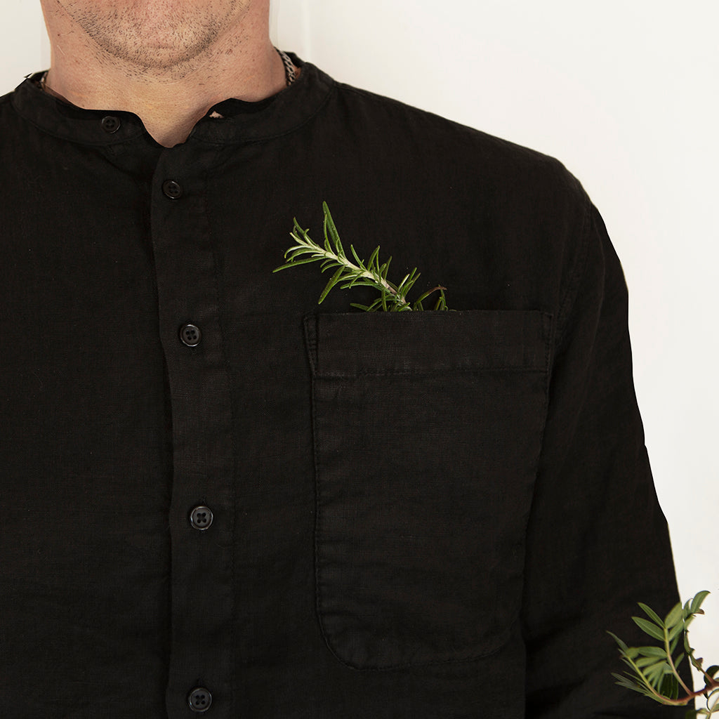 Cropper Shirt, Charcoal Black