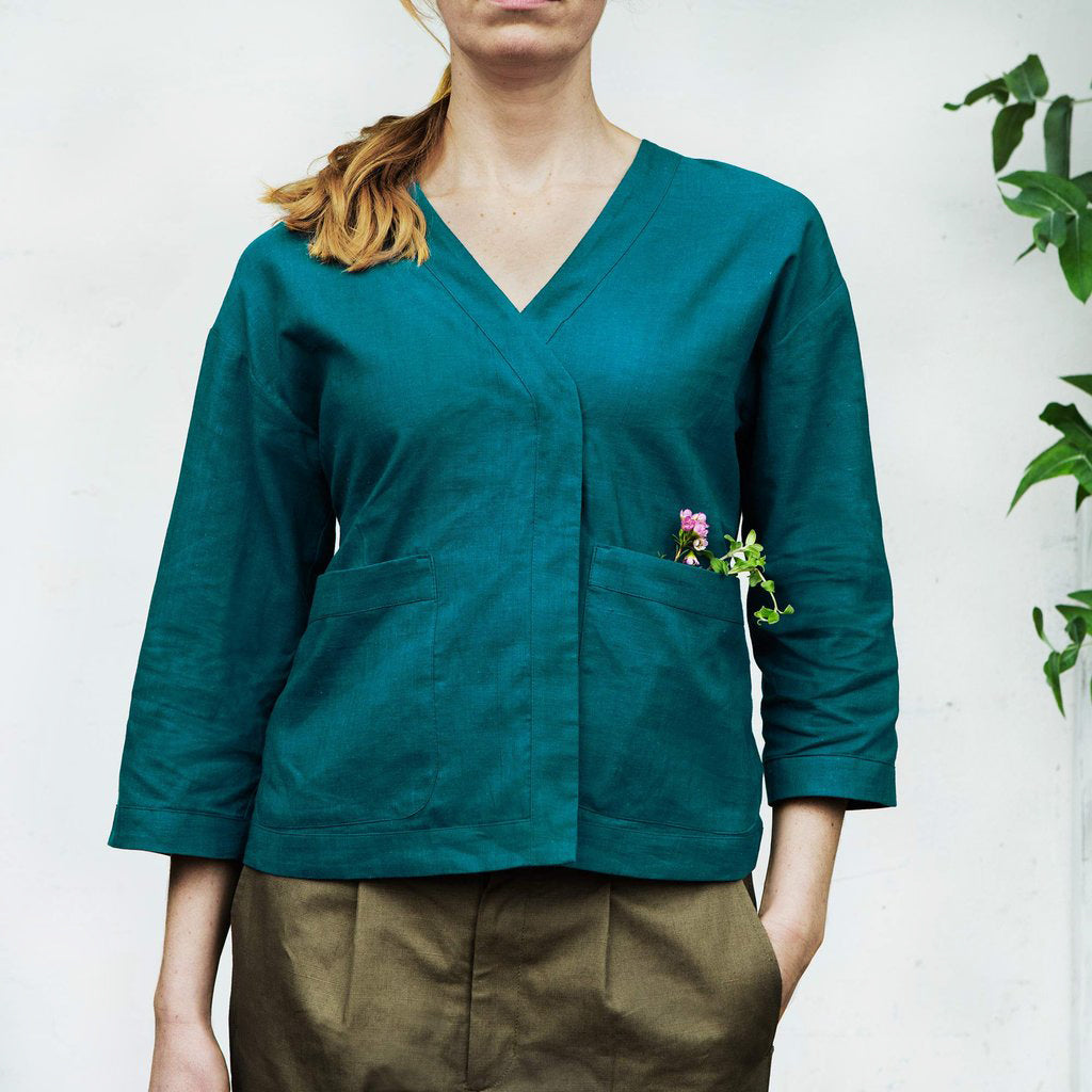 Honeysuckle Tunic, Petrol Blue