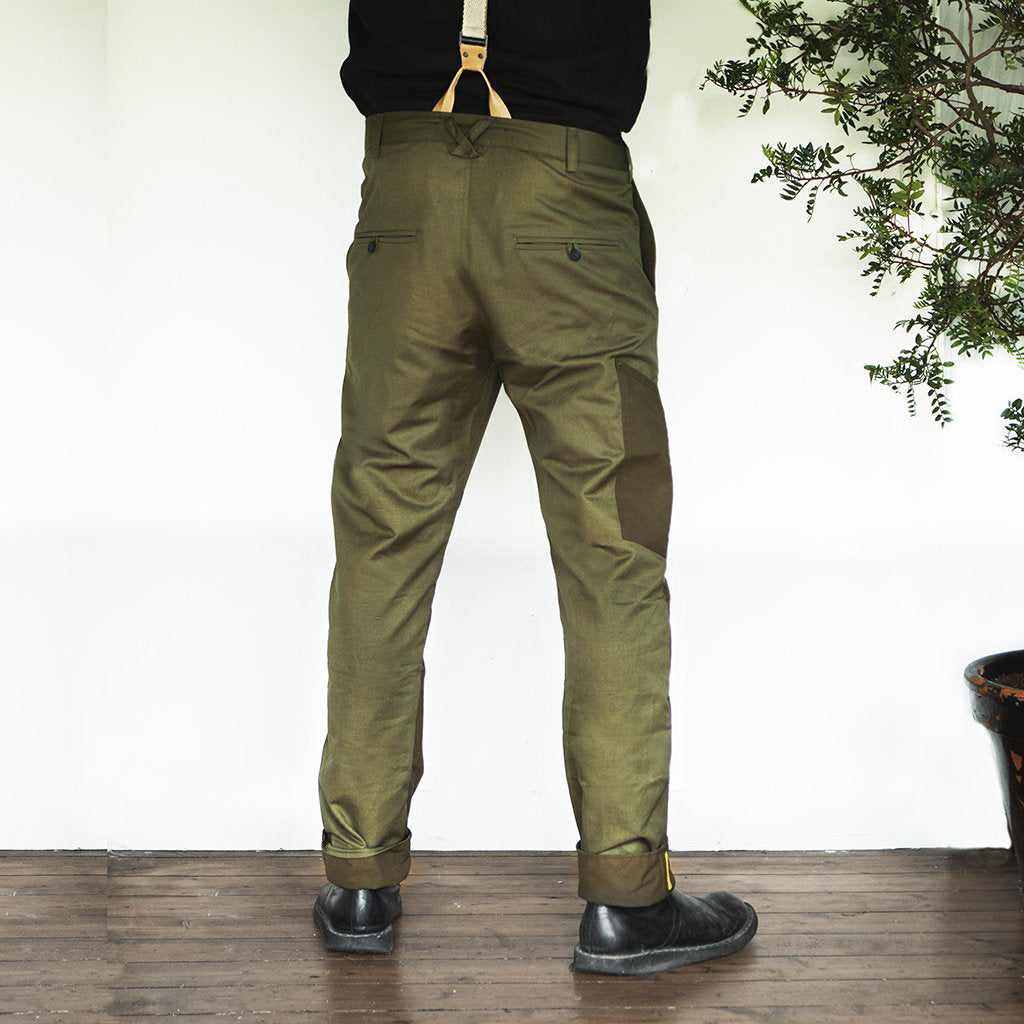 Oxeye Mens Tailored Work Trouser, Golden Green