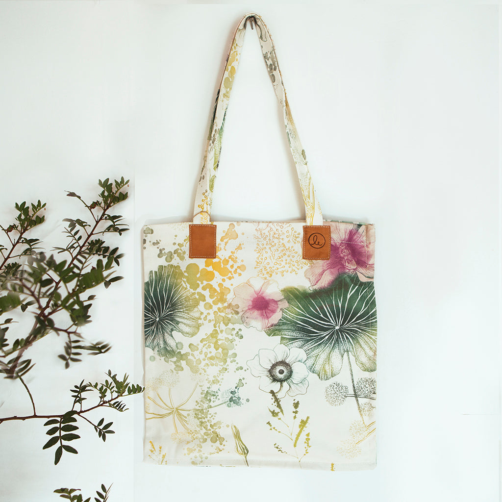 Cotton Canvas Tote, Wild Meadow