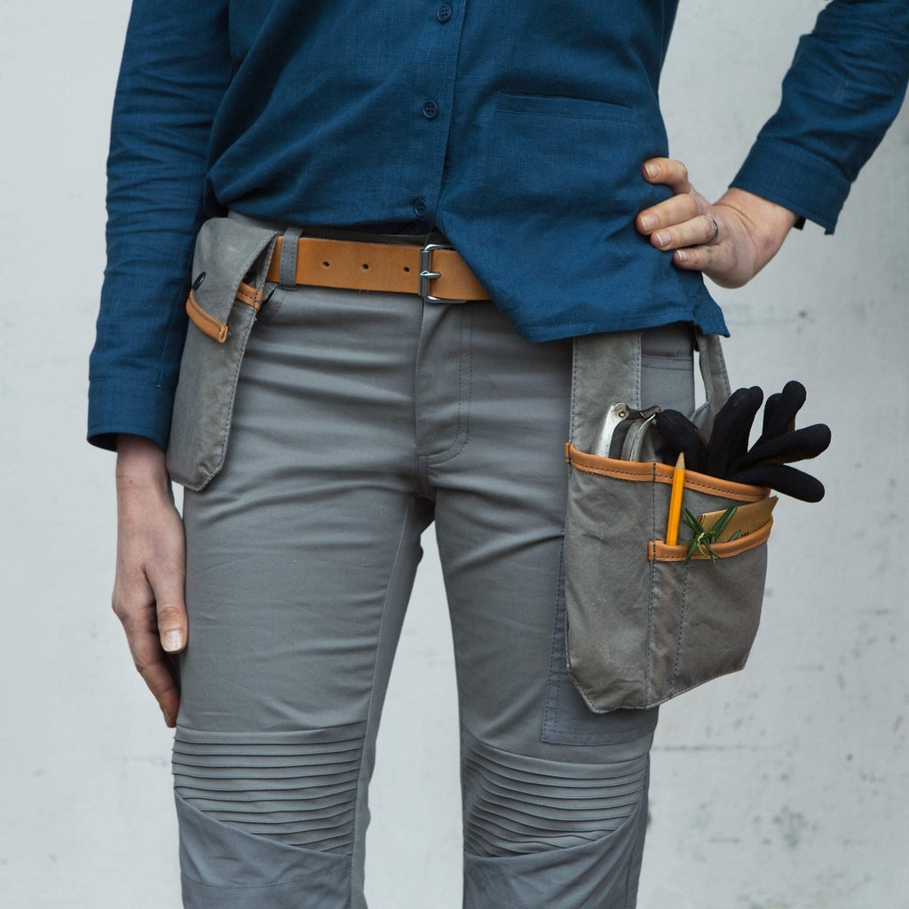 Sweet pea Tool pockets and belt, Stone grey