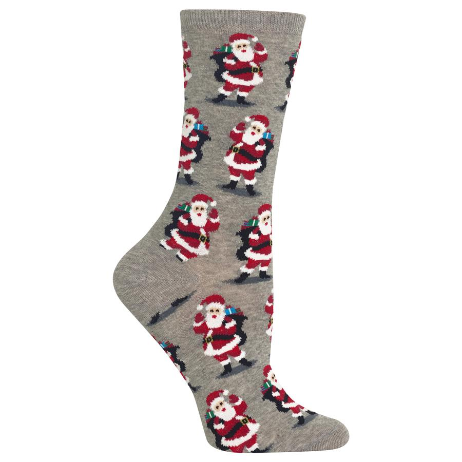 Women's Christmas Santa With Presents Socks (HO002536)