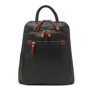 Leather Women's Organizer Backpack (7107)