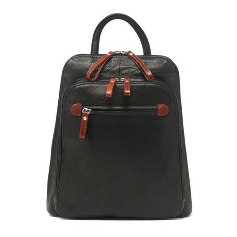 Leather Women's Organizer Backpack 7107