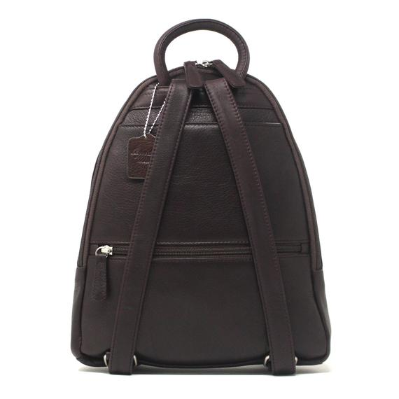 Leather Women's Teardrop Multi Zip Backpack (5017)