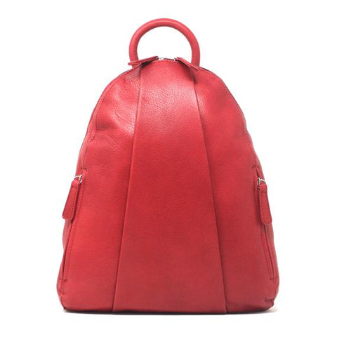 Leather Women's Backpack Teardrop with Multi Zip 5017