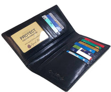 Load image into Gallery viewer, Leather Men's Wallet for Coat Pocket RFID (1107)