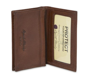 Leather Card Case Gusseted RFID (1112)