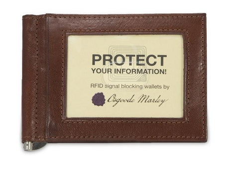 Leather Men's Wallet with Money Clip RFID (1121)