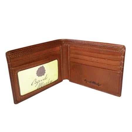 Leather Men's Wallet Thinfold with ID Window RFID (1131)