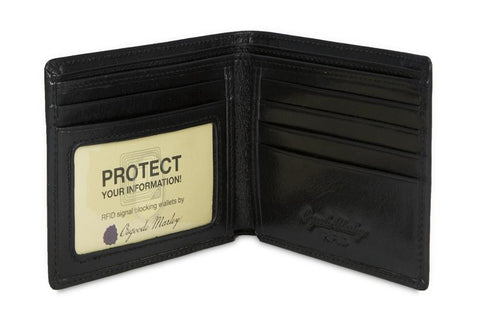 Leather Men's Wallet Thinfold with ID Window RFID 1131 (Available in other colours)