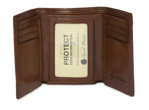 Leather Men's Wallet Trifold with ID Window RFID (1134)