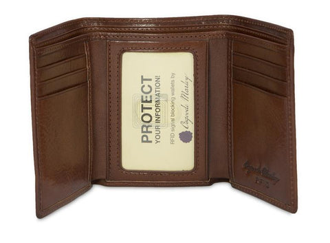 Leather Men's Wallet Trifold with ID Window RFID 1134 (Available in other colours)