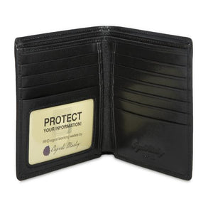 Leather Men's Wallet Hipster with ID Window RFID (1135)