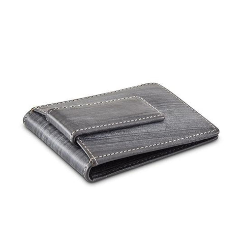 Leather Men's Magnetic Money Clip Wallet (1173)