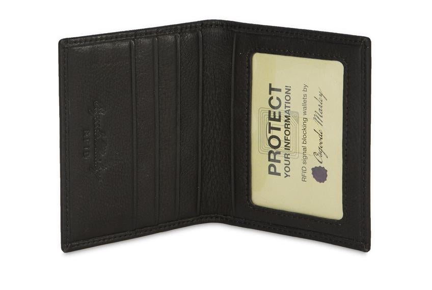 Leather Card Case with ID Pocket RFID (1204)