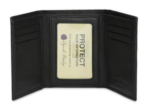 Leather Men's Wallet Trifold with Double ID Window RFID (1205)