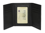 Leather Men's Wallet Trifold with Double ID Window RFID 1205 (Available in other colours)