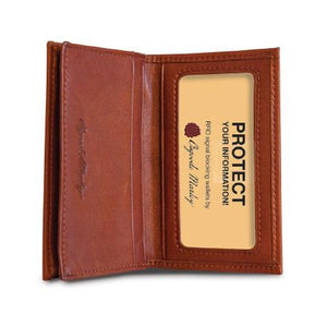 Leather Card Case Gusseted RFID (1212)