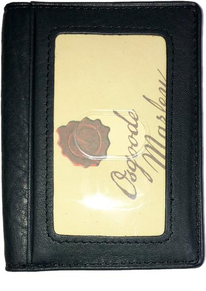 Leather Card Case with Double ID Window RFID (1215)