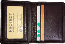 Load image into Gallery viewer, Leather Card Case with Double ID Window RFID (1215)