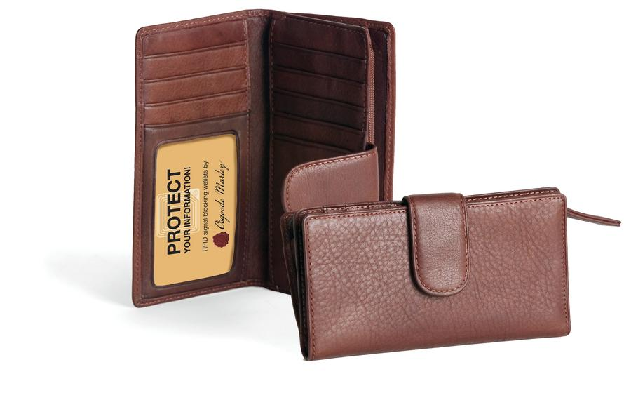 Leather Women's Card Case Wallet RFID (1217)