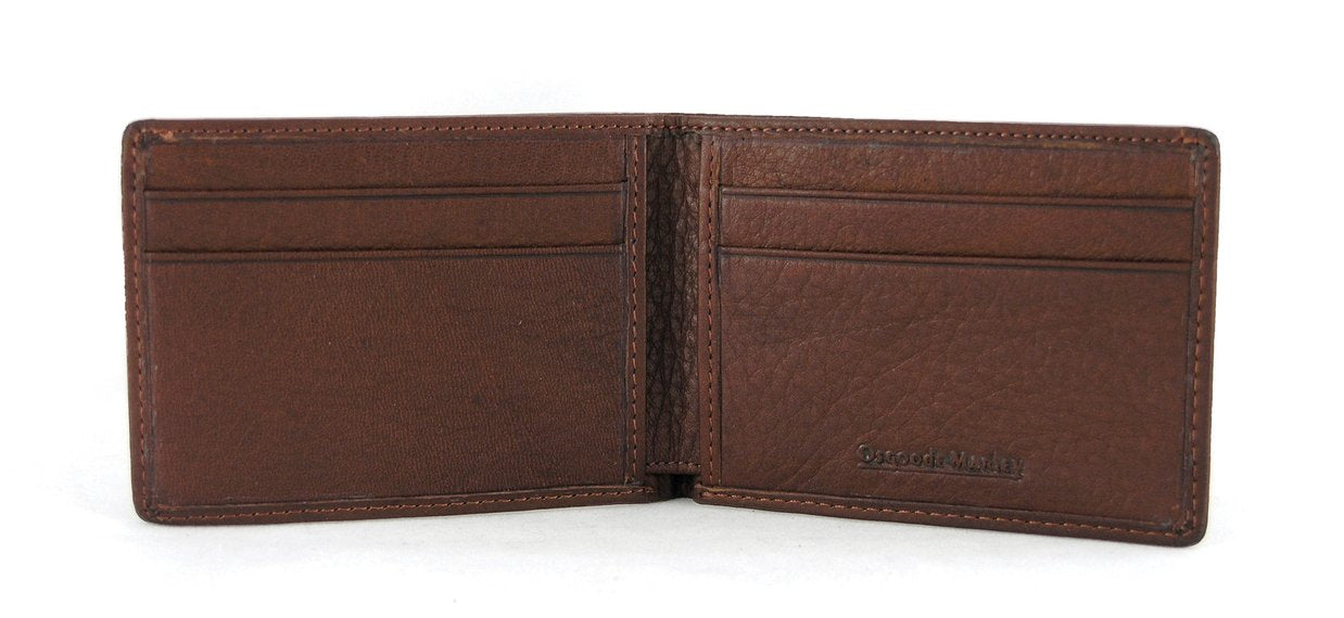 Leather Men's Wallet Ultra Mini Thinfold RFID 1224