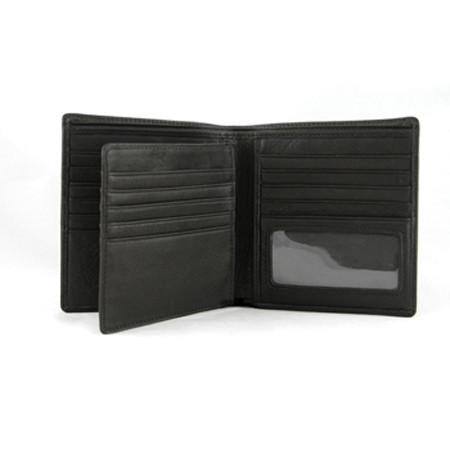 Leather Men's RFID Extra Page Hipster Wallet (1229)