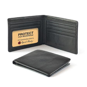 Leather Men's Wallet Slimfold with ID Window RFID (1231)