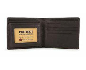 Leather Men's Passcase with ID Window RFID (1232)