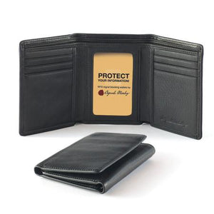 Leather Men's Wallet Trifold with ID Window RFID (1234)