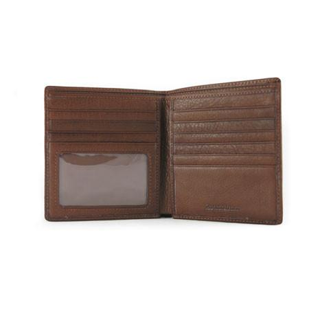 Leather Men's Wallet Hipster with ID Window RFID (1235)