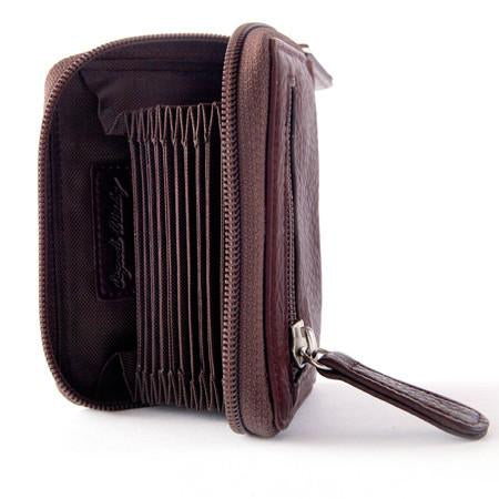 Leather Women's Card Accordion File RFID (1248)