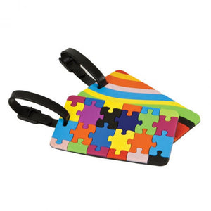 Luggage Tags Set of 2 - Puzzles and Swirls (12658)