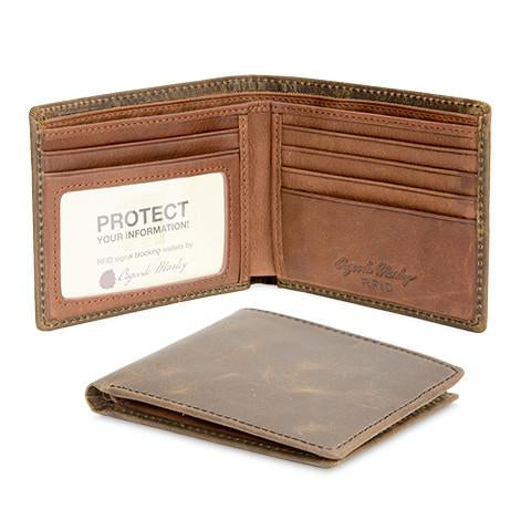 Distressed Leather Men's Wallet Thinfold RFID 1301