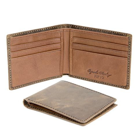Distressed Leather Men's Wallet Mini Thinfold RFID 1305