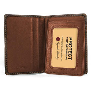 Distressed Leather Men's ID Flipfold Wallet (1309)