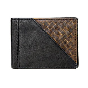Leather Men's Wallet with Magnetic Money Clip RFID (1321)