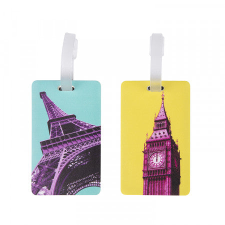 Luggage Tags Set of 2 - Paris London