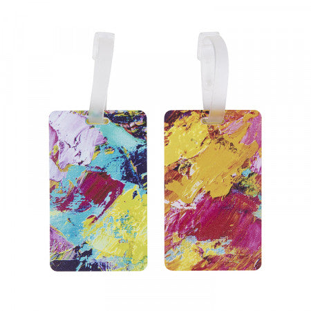 Luggage Tags Set of 2 - Brushed Paint