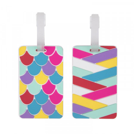 Luggage Tags Set of 2 - Scales Stripes