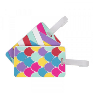 Luggage Tags Set of 2 - Scales Stripes (13452)