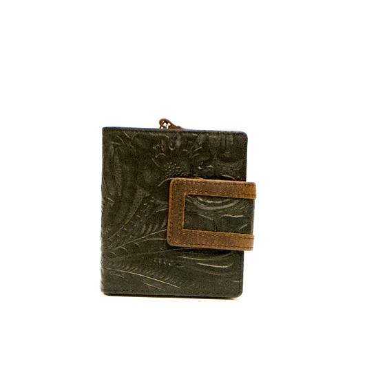 Floral Leather Women's Wallet Mini RFID (1432)