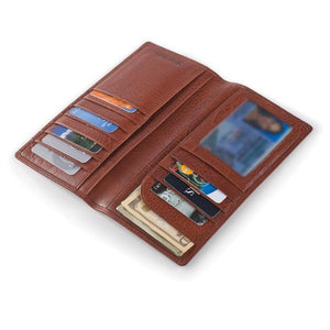Leather Men's Wallet for Coat Pocket RFID (1107)