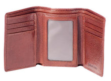Load image into Gallery viewer, Leather Men's Wallet Trifold with ID Window RFID (1134)