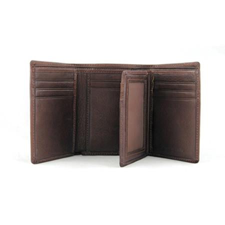 Leather Men's RFID Extra Page Trifold Wallet (1228)