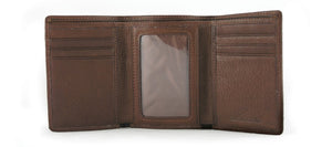 Leather Men's Wallet Trifold (1534)